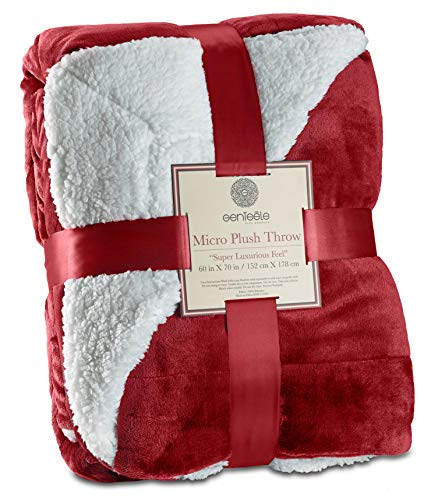 Genteele Sherpa Throw Blanket Su...