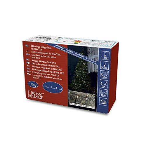 Konstsmide 3957-107 Micro LED Kompakt System Erweiterung: Lichterkette / für Außen (IP44) / 100 warm weiße Dioden / schwarzes Softkabel