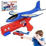 FORMIZON Avion de Juguete, Planos de Espuma, Juguete de Avión de Catapulta, Juego de Disparos Juguete de Avión, Deportes al Aire Libre Avión Planeador para Juguete Infantil Regalo (Azul)