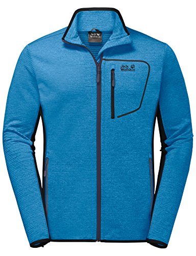 Jack Wolfskin Herren Mountain Pass Dynamic Fleecejacke, Ocean Blue, M