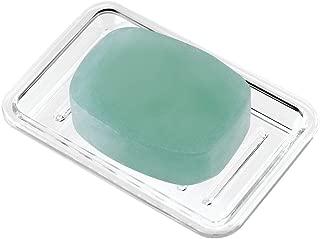 iDesign Royal Plastic Rectangular Soap Saver, Bar Holder Tray for Bathroom Counter, Shower, Kitchen, 3.5