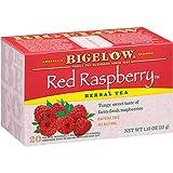 Bigelow Red Raspberry Herbal Tea Bags, 20 Count Box (Pack of 6) Caffeine Free Herbal Tea, 120 Tea Bags Total