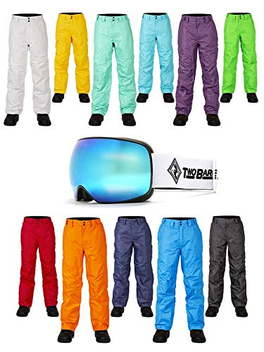 Two Bare Feet Marteau de charpentier Pantalon de ski + XS Summit Revo Bleu Masque de ski + supplémentaires Ambre objectif, bordeaux