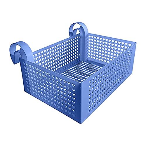 DSFSAEG Cesta de almacenamiento para piscina enmarcada, portátil extraíble cesta de almacenamiento de la piscina, toalla de juguete teléfono organizador para colgar alimentos (azul)