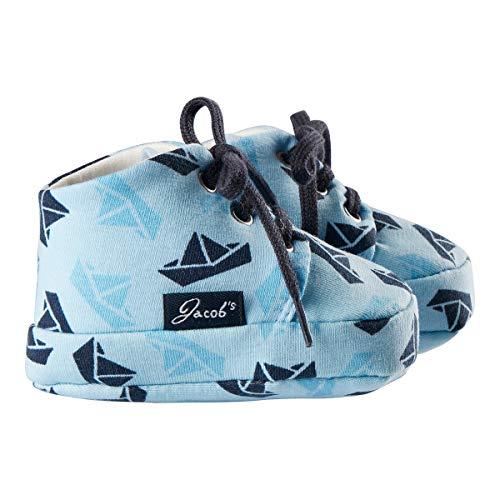 Jacob`s Chaussures à lacets bébé chaussures bébé, bateaux en papier bleu