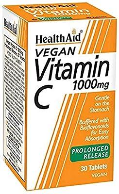 HealthAid Vitamin C 1000mg - Prolong Release - 30 Vegan Tablets