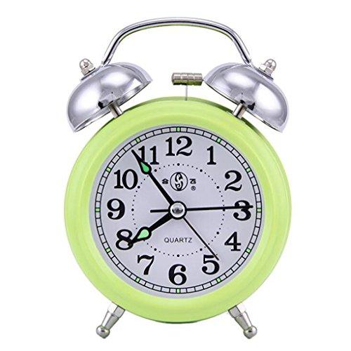 Longless Cuarzo campana reloj despertador escanear mudo dormitorio luminoso sencillo 9*4.5*12CM