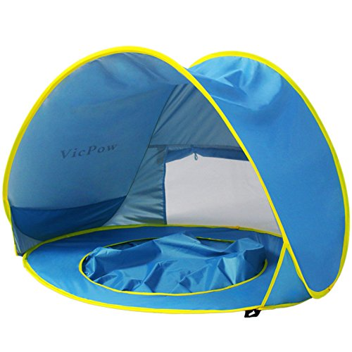 Pop Up Baby Beach Tent,VicPow Portable Infant Sun...