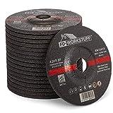 Discos de desbaste, 10 unidades, diámetro de 115 x 6 mm, para amoladora de corte o ángulo de corte, discos abrasivos, para acero y metal no ferroso