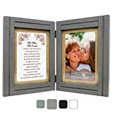 Harmony Tree Collections Gift for Mom | My Mom, My Friend - 5x7 Picture Frame | Birthday, Mothers Day, Christmas, Valentines Day, Mother of The Bride, Mother of The Groom (Gray_MomFriend)