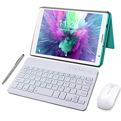 Tablet Android 10.0 3GB de RAM 32GB/128GB de ROM Quad Core Tablet PC Baratas y Buenas Batería 5000mAh Tableta Netflix WiFi Bluetooth OTG (Verde)