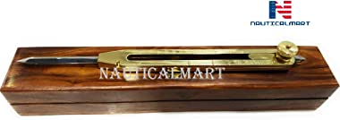 """NAUTICALMART Artist Proportional Scale Divider Drawing Tool Professional 9"""" Long Solid Brass with Heavy Duty Steel Point"""