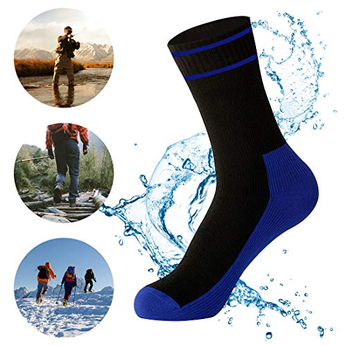 WATERFLY Waterproof Socks Breathable Sweat-Absorbing Socks for Men Women Trekking Hiking