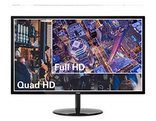"AOC Q32V3 32"" 2K QHD Monitor, VA Panel 3-Sided Frameless, 4ms 75Hz, 103% sRGB Coverage, VESA, Black"