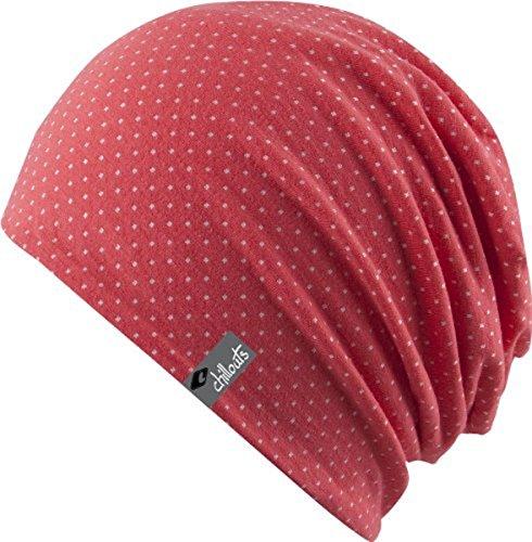 Chillouts Florence Hat - 3 Farben Damen und Herren - super leicht Summer Slouch Beanie - Long Beanie - Neu - Frühling Sommer, Farbe:Rosa