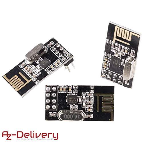 AZDelivery 3x NRF24L01 avec 2,4GHz Antenne module emetteur-recepteur sans fil WiFi Récepteur RF Récepteur Module Pour Arduino 3x NRF24L01 2.4GHz