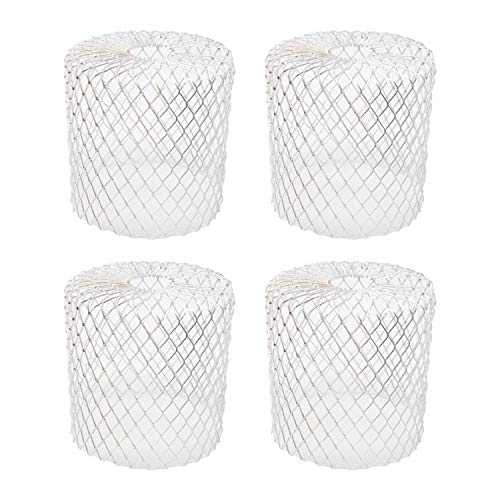 Kraftex 4pk Gutter Guards Leaf Filter Gutter Strainer & Downspout Guard - Better Than Roof Gutter Screen - Mesh Leaf Guards with Up to 4in Diameter - Gutter Drain Cover & Down Spout Rain Protecto