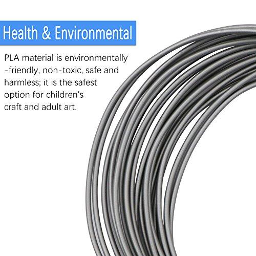 3D Stift Filament, Rusee 16 Farben 5M 3D Pen PLA Filament Ink Filament 1.75mm 3D Print Filament 3D Printing Pen Supplies 3D Stift Farben Set für 3D Stift, 3D Drucker, 3D Pen - 4