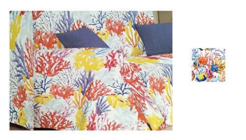 telo copridivano copri poltrona copriletto matrimoniale gran foulard copritutto stampa marina pesci beach 3 (matrimoniale)