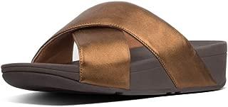 FitFlop Womens K04 Lulu Cross Slide Sandals - Leather