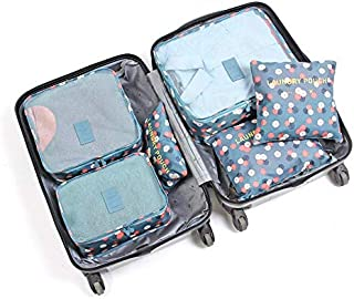 6 Pcs/set High Quality Oxford Mesh Cloth Travel Bag Organizer Luggage Packing Cube Organizer Travel Bags