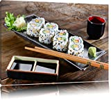 Delikate Inside Out Sushi Rollen Format: 60x40 auf