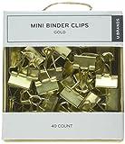 U Brands 763A0624 - Clips para archivador, color dorado, 40 unidades