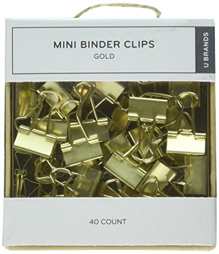 U Brands Mini-Vielzweckklemmen, Gold, 40Stück (763A0624)