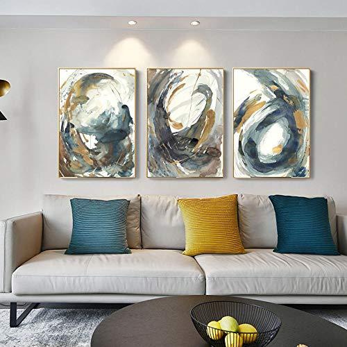 ZYQYQ Cuadros Decoracion Salon Pintura al óleo abstracta sofá de la sala de estar impresión Dropshipping del hogar pintura arte 30x40cmx3Pcs-sin marco