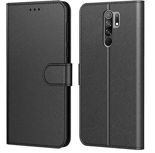 Tenphone Schutzhülle für Xiaomi Redmi 9, mehrere Farben erhältlich, Premium-Schutzhülle aus PU-Leder, Magnetverschluss, für