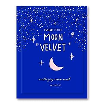 FaceTory Moon Velvet Moisturizing Facial Sheet Mask  Single Mask  - Moisturizing Brightening and Anti-Aging