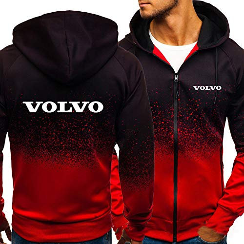 Sweatshirt Jacket Volvo Print Long Sleeve Casual Full Zipper