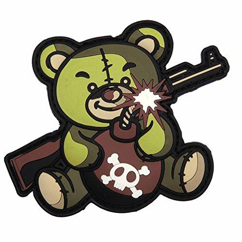 Emblem 3D PVC Terror Teddy 7,5 x 10 cm Klett Abzeichen Patch Airsoft Paintball Armee Militär