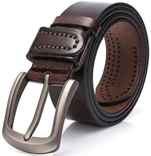 DOVAVA Cintura in Cuoio, Cinture da Ragazzo. (125CM (39'' - 45''), Marrone 2001)