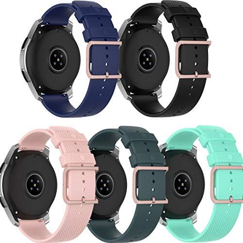 Ruentech Correa compatible con Umidigi Uwatch 2 / Uwatch 2S, correa de repuesto de silicona suave, flexible, correa de reloj de pulsera, accesorios (5 colors)