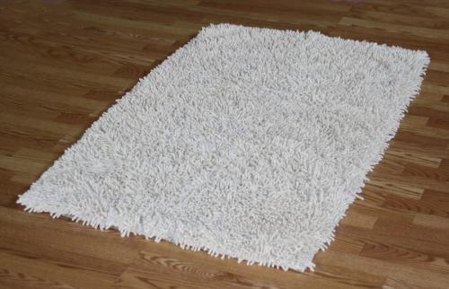 IXI Handmade Premium Shaggy Off-White Cotton Rug (3' x 5')