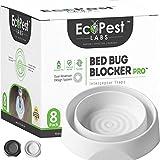 Bed Bug Interceptors – 8 Pack | Bed Bug Blocker (Pro) Interceptor Traps (White) | Insect Trap,...
