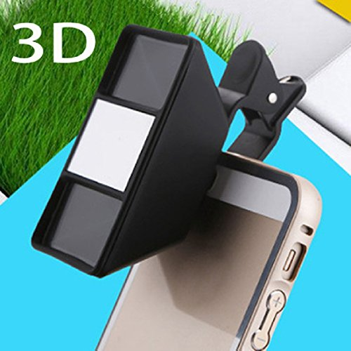 QIXINSTAR 1Pc Smartphone 3D Stereoscopic Lens 3D Camera Stereo Photos Fisheye Lens With Clip