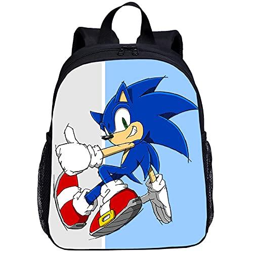 Mochila Pequeñas Mochilas Niños Niñas Anime Sonic Carta Impresión 3D Kindergarten Bookbag Satchels Mochila Escolar