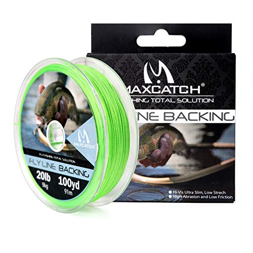 M MAXIMUMCATCH Maxcatch Braided Fly Line Backing for Fly Fishing...