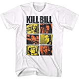 Kill Bill Película Caracteres Imágenes en Color Adulto Manga Corta Camiseta Gráfica, Blanco, Large