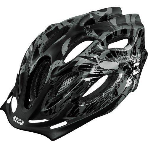 ABUS Fahrradhelm Aduro black white, M(54-58cm), 43385
