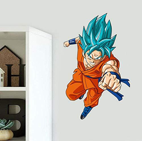 YttBuy Dragon Ball Wall Decals Dragon Ball Z Decals for Walls Goku Super Saiyan Vinyl Wall Decal Stickers Dragon Ball Poster Goku Decal