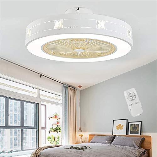 WOERD Ventilador de Techo con Iluminación LED Ventilador de Techo con Mando A Distancia Luz Ventilador Invisible, Velocidad del Viento Ajustable Decoración De Interiores Plafón Iluminación