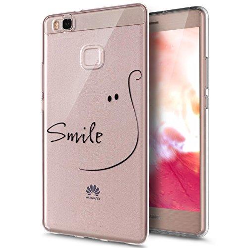 ikasus Coque Huawei P9 Lite Etui,Colorful Art Painted souple en caoutchouc de silicone Bumper Coque,cristal clair souple en silicone avec motif Coque arrière pour Huawei P9 Lite,#12