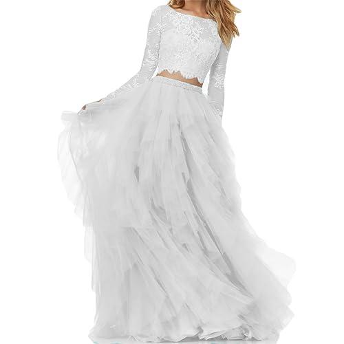 Two Piece Wedding Dress Amazon Com