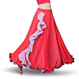ROYAL SMEELA Falda la Danza del Vientre Mujer Faldas largas chifón con Volantes Falda Larga Big Swing Disfraz de Danza Traje Danza del Vientre Mujer práctica Rendimiento Vestido
