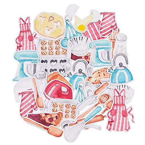 25 Pieces Kawaii Stickers for Kids,Kitchen Stickers for Kitchen Decor,Fridge Calendar,Mothers Day Gift, Bullet Journal, Cute Aesthetic Stickers for Planner, Laptop, Scrapbook Album, Art Supplies