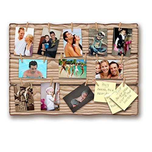 Lupia Bilderrahmen zum Aufhängen Shabby Ulme Board 50x 70