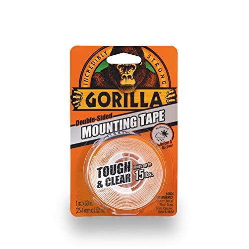 Gorilla Tough & Clear Double Sided Mounting Tape, 1